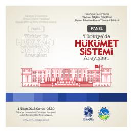 Türkiye`de Arayışları - Siyaset Bilimi ve Kamu Yönetimi Bölümü