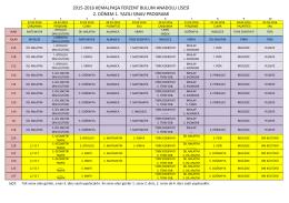 2015-2016 kemalpaşa ferzent bulum anadolu lisesi 2. dönem 1