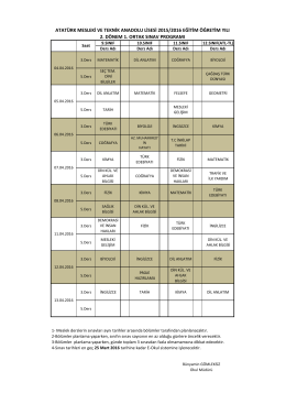 atatürk mesleki ve teknik anadolu lisesi 2015/2016