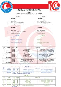 Öğrenci Futbol (Erkek 1) - Mehmet Akif Ersoy Üniversitesi