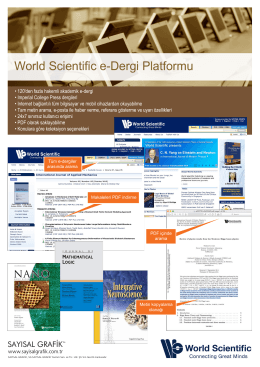 World Scientific e-Dergi Platformu