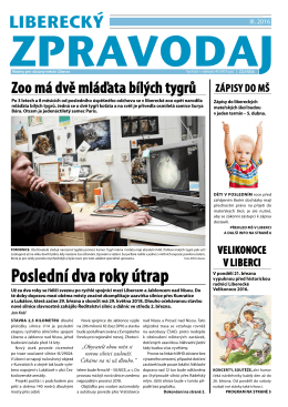 Březnové vydání Libereckého zpravodaje ke stažení v * je ZDE