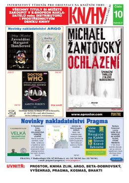 Novinky nakladatelství Pragma PRAGMA, V Hodkovičkách 2/20, 147