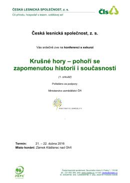 pozvánku - Česká lesnická společnost