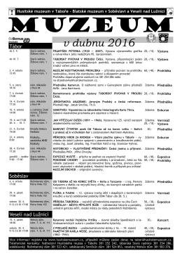 program_duben_2016 - Husitské muzeum v Táboře