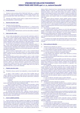 Všeobecné smluvní podmínky – 2016