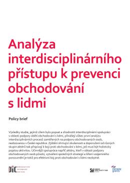 Analýza interdisciplinárního přístupu k prevenci obchodování s lidmi