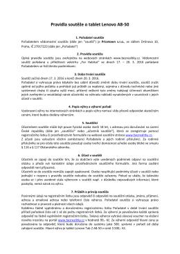 Pravidla soutěže - blog bezrealitky.cz