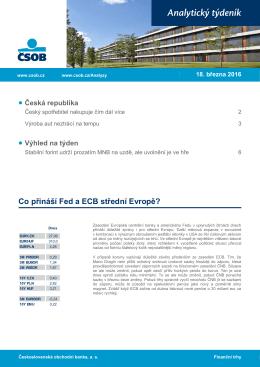 Analytický týdeník pro region CEE