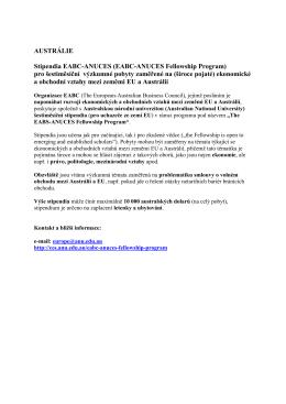 Stipendia EABC-ANUCES pro výzkumné pobyty