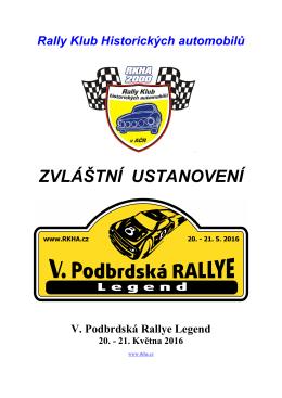 ZDE - Rally klub historických automobilů