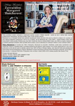 Hilary Mantelová ZAVRAŽDĚNÍ MARGARET THATCHEROVÉ