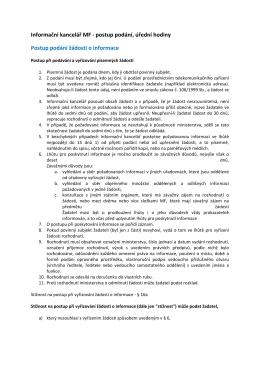 Informační kancelář MF - Ministerstvo financí ČR
