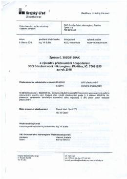 Zpráva o přezkoumání hospodaření MK Ploština