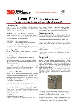 technický list LENA P100