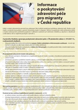 Informace pro imigranty