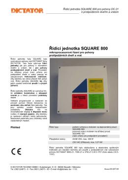 Katalogový list výrobce - Technicke