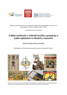 Pozvánka a program... - Společnost pro dějiny věd a techniky