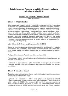 Pravidla programu
