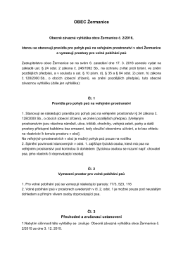 Obecně závazná vyhláška obce Žermanice č. 2
