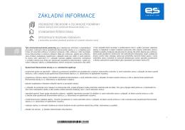 základní informace - Ekonomické stavby