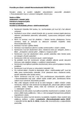 Pravidla ankety Moravskoslezská sestra 2016