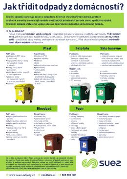 Jak třídit odpady z domácností?