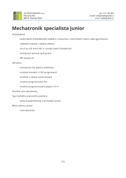 Mechatronik specialista junior