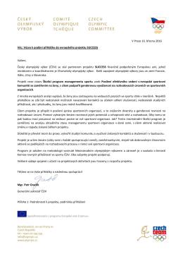 Výzva k podání přihlášky do evropského projektu SUCCESS Vážení