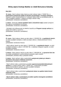 Střety zájmů Andreje Babiše ve vládě Bohuslava Sobotky