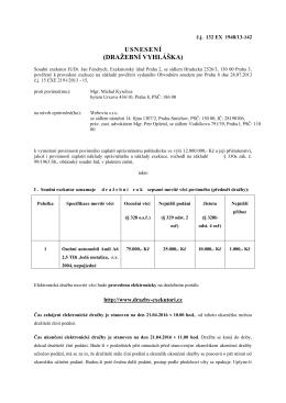 usnesení (dražební vyhláška) - E
