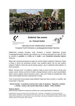 Koncert mládežnických orchestrů