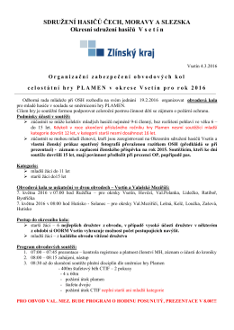 OZ OK MH 2016 - Okresní sdružení hasičů Vsetín