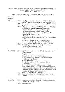 Program semináře - Asociace muzeí a galerií v České republice