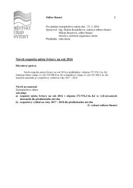 1.1.DZ rozpočet 2016