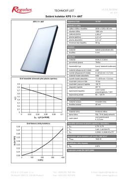 Technický list KPS 11+ ANT
