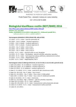 BIKR (cvika + témata seminárek) 2016
