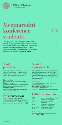 Mezinárodní konference studentů