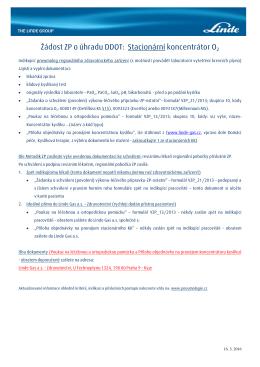 Žádost ZP o úhradu DDOT: Stacionární