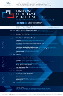 národní sportovní konference 2016 program