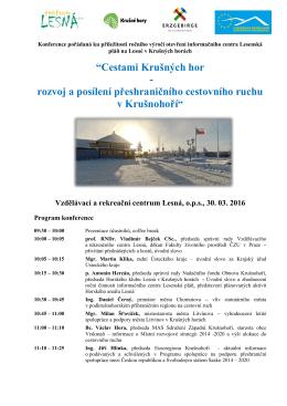 konference lesna program