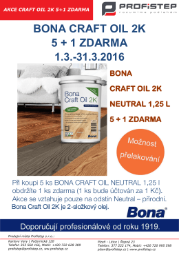 bona craft oil 2k 5 + 1 zdarma