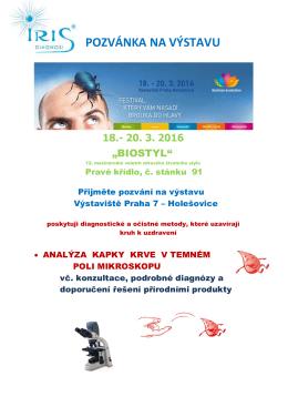 pozvánka na výstavu biostyl 2016