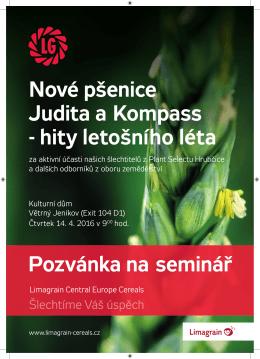 Limagrain pozvánka pšenice Judita a Kompass.indd
