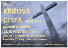 ŽIVÁ CESTA MLADÝCH ulicemi Litoměřic 18. 3. ve 20:30 hodin