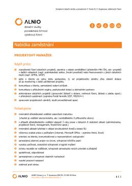 Nabídka zaměstnání - DOTAČNÍ SLUŽBY.cz
