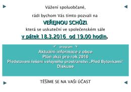 veřejná schůze 18.3.2016