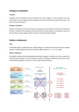 Change in evaluation Změna v hodnocení