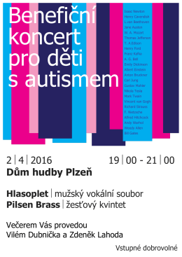 2 4 2016 19 00 - 21 00 Dům hudby Plzeň