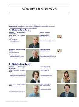 Senátorky a senátoři AS UK